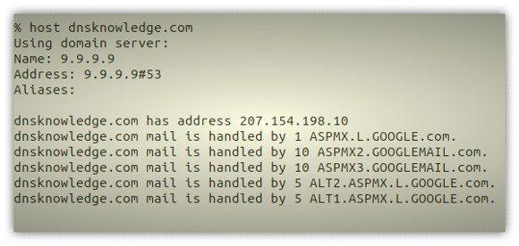Quad9 resolving domain names